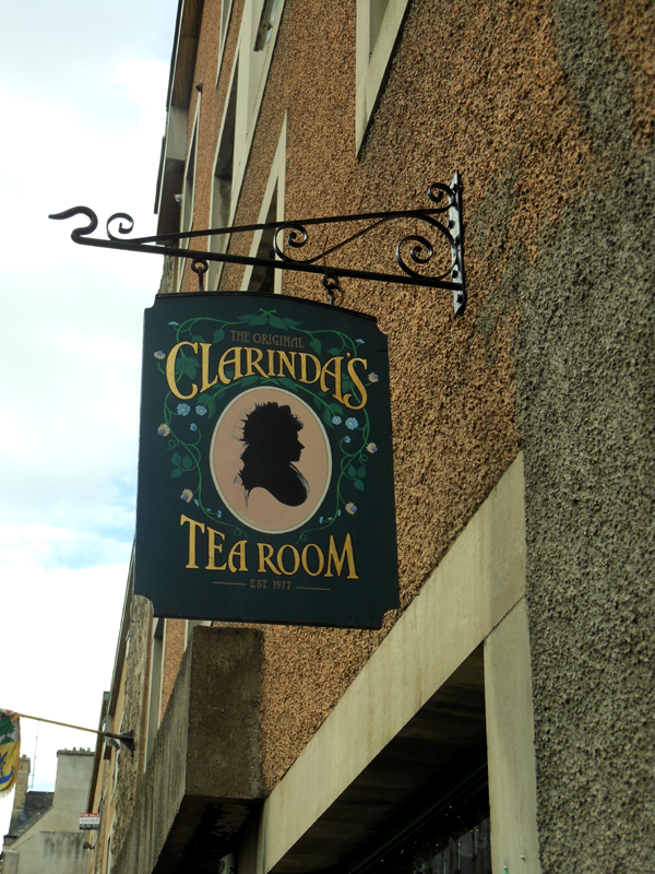 Edinburgh Royal Mile Clarinda's Tea Room 69 Canongate  © 2012 Scotiana