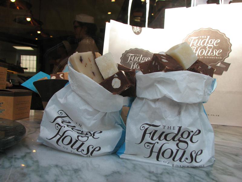 Little bags of fudges The Fudge House 197 Canongate Edinburgh © 2012 Scotiana