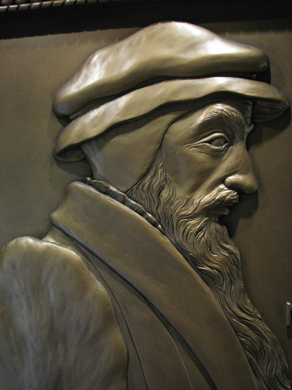 Portrait of John Knox in John Knox House High Street Edinburgh © 2012 Scotiana