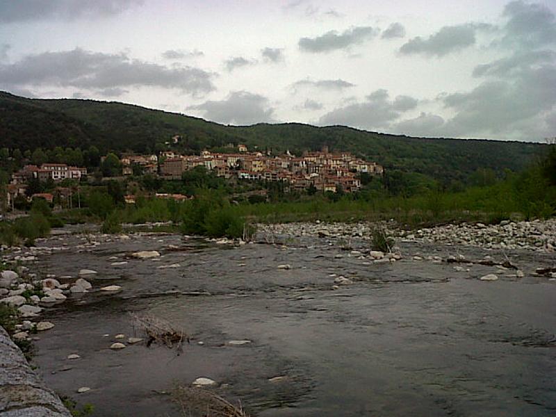 Amélie-les-Bains the river Tech