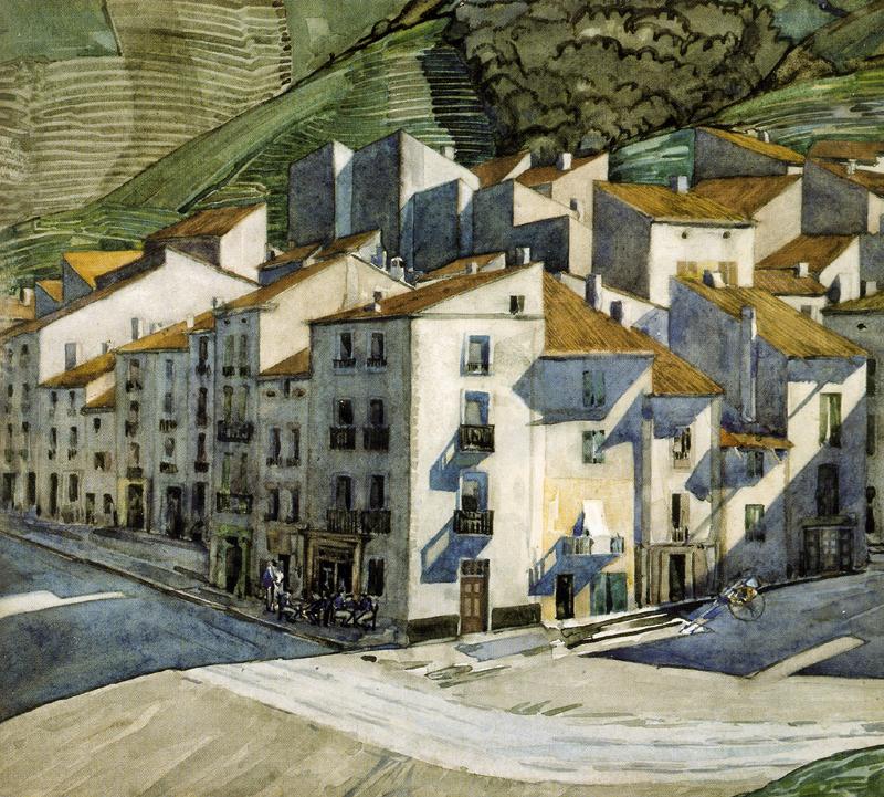 CR Mackintosh's watercolour A Southern Town 1924