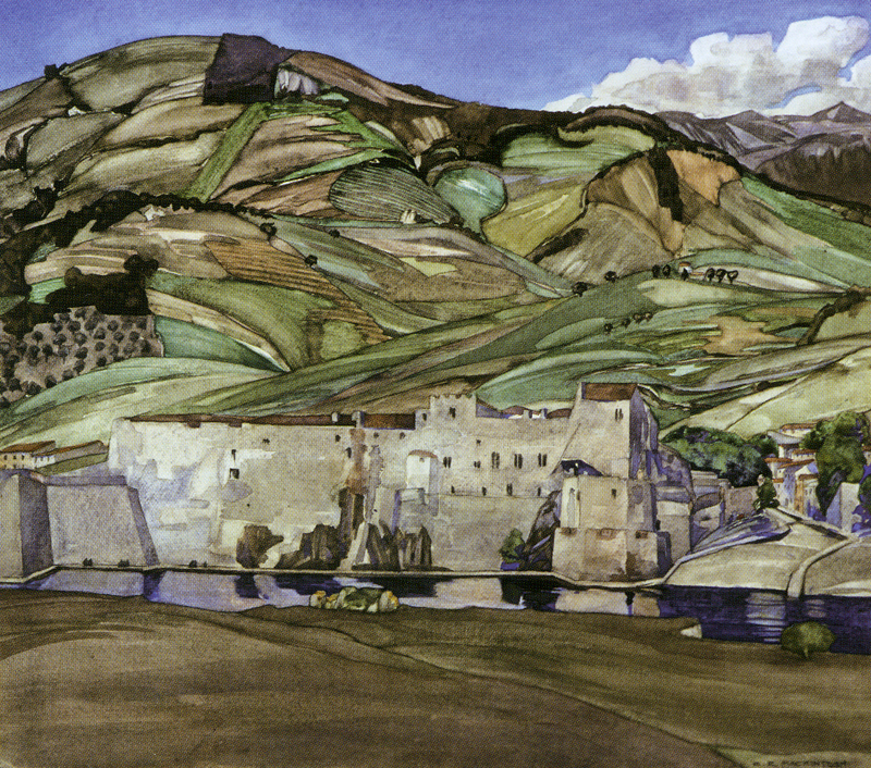 CR Mackintosh's watercolour The Summer Palace of the Queens of Aragon