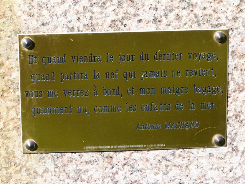 Collioure plaque Antonio Machado © 2012 Scotiana