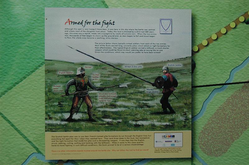 Flodden Field board 'Armed for the fight'Flodden Battlefield Field Trail © 2007 Scotiana
