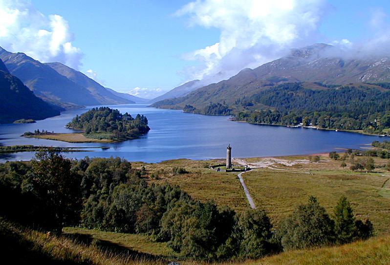 Glenfinnan Loch Shiel Bonnie Prince Charlie monument  © 2003 Scotiana