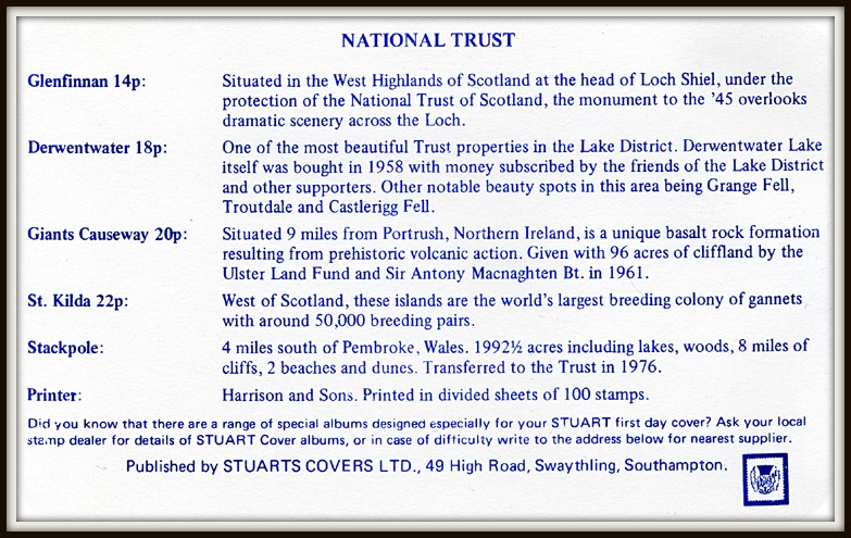 Golden Jubilee of Scottish National Trust FDC 1981 commemorative card