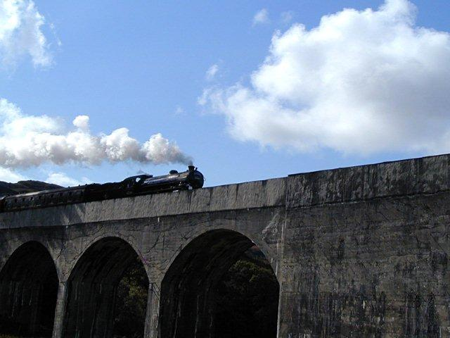 Glenfinnan viaduct  The Jacobite train