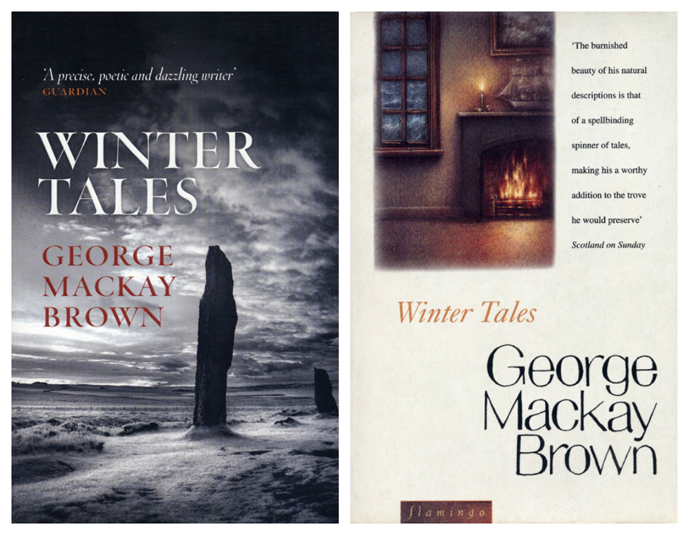 George Mackay Brown Winter Tales two covers