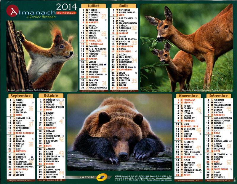 Almanach du facteur 2014