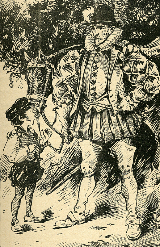 Kenilworth Sir Walter Scott illustration Flibbertigibet