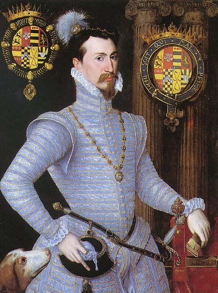 Robert Dudley, Earl of Leicester c. 1564 Wikimedia Commons
