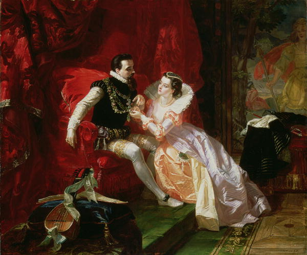 Ward Leicester and Amy Robsart at Cumnor Hall Edward Matthew Ward 1866