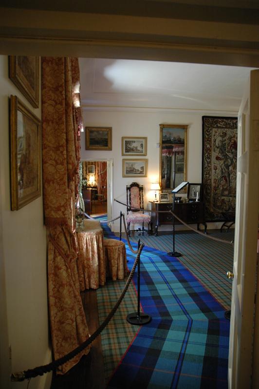 Cawdor Castle Scotland - Blue Tartan Rug
