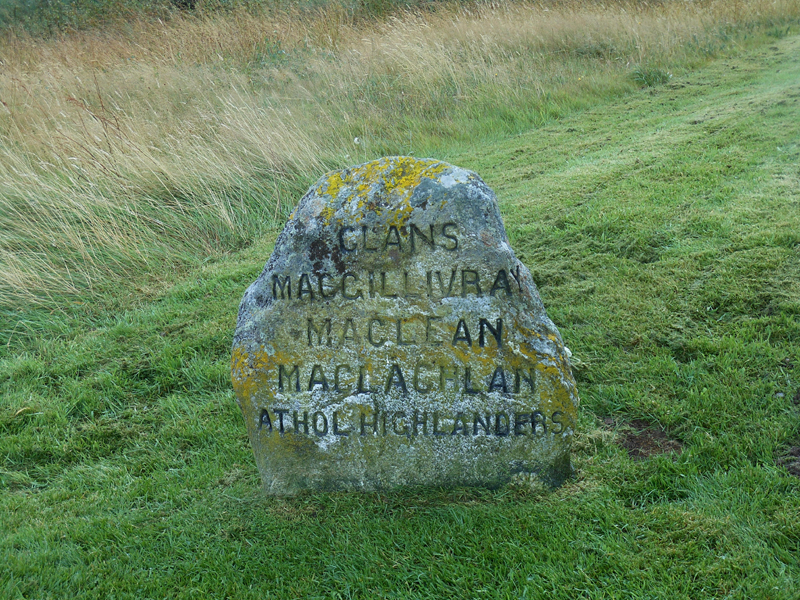 Culloden stone MacGillivray MacLean MacLachlan Athol Higlanders © 2012 Scotiana