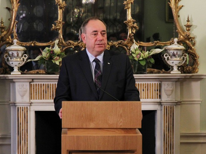 Alex Salmond announces his resignation at Bute House, Edinburgh (Scottish Government-PA)