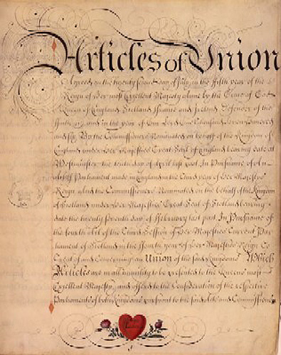 Articles of Union 1707 Wikipedia