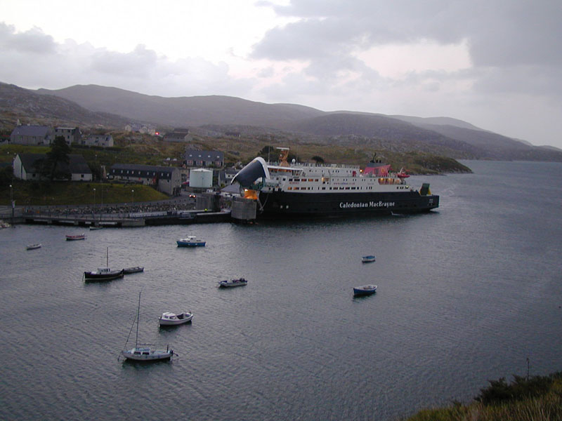 Arrival of the ferry in Tarbert North Harris Outer Hebrides © 2003 Scotiana
