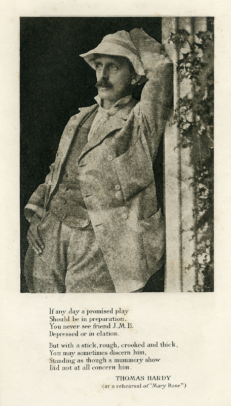 J.M. Barrie portrait - The Plays of J.M. Barrie -  Hodder and Stoughton 1936