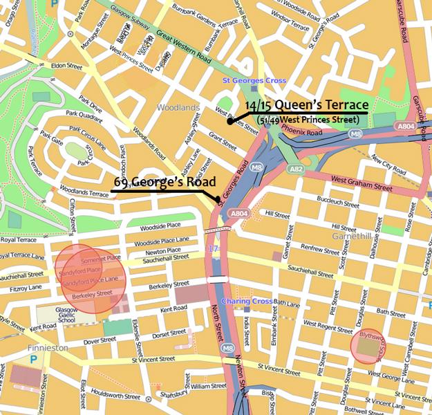 Oscar Slater Affair Glasgow Map