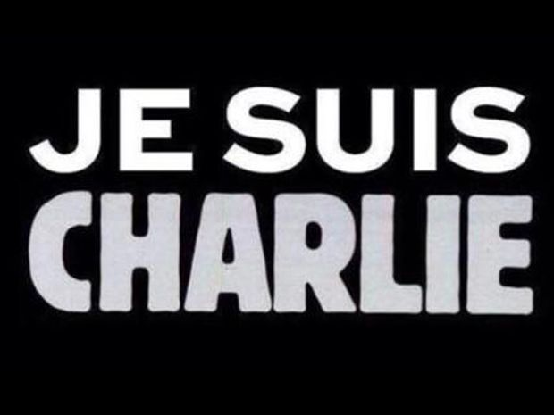 """Je suis Charlie"" slogan Charlie Hebdo terrorist attack"