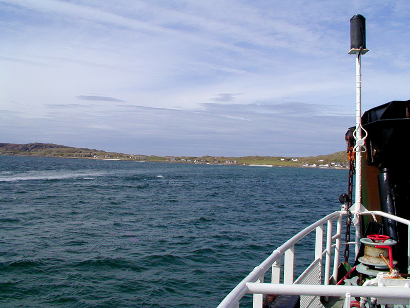 Sailing on towards Iona aboard the Calendonian MacBrayne ferry © 2003 Scotiana