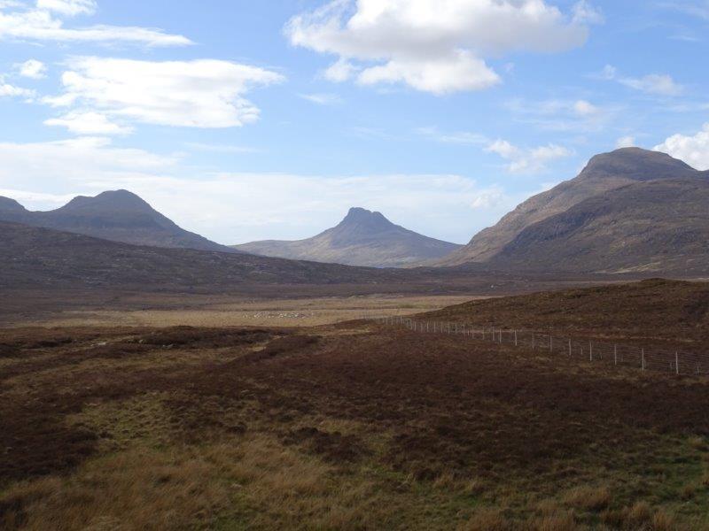 Assynt scenic roads in Scotland