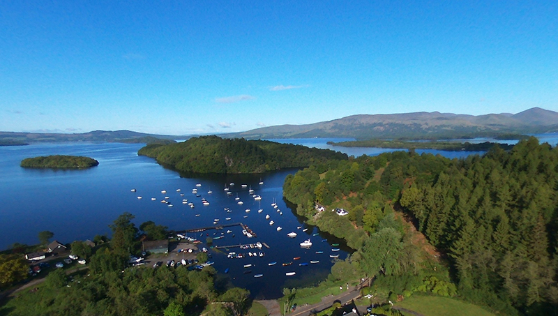 Balmaha Bay in the Trossach  BeBop aerial view © 2015