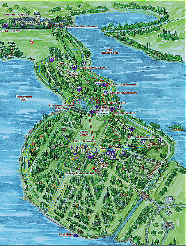 Castle Kennedy Gardens map