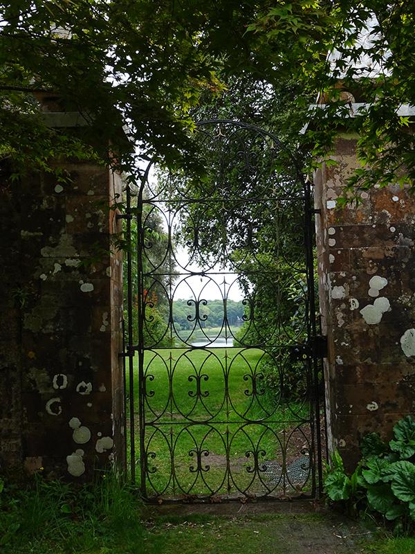 Castle Kennedy entrance gate walled garden © 2015 Scotiana
