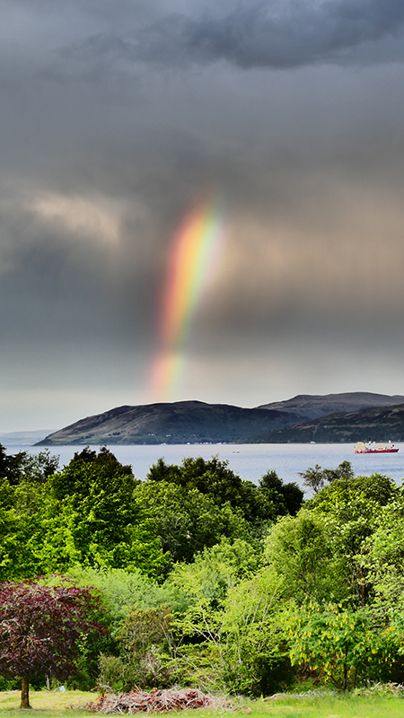 Crossaig Lodge rainbow © 2015 Scotiana