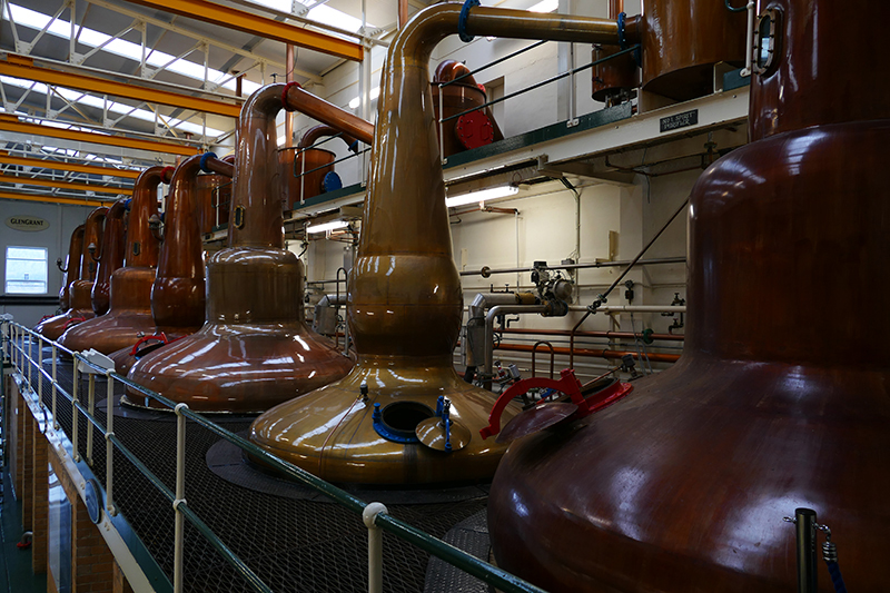 GlenGrant Distillery  copper stills © 2015 Scotiana