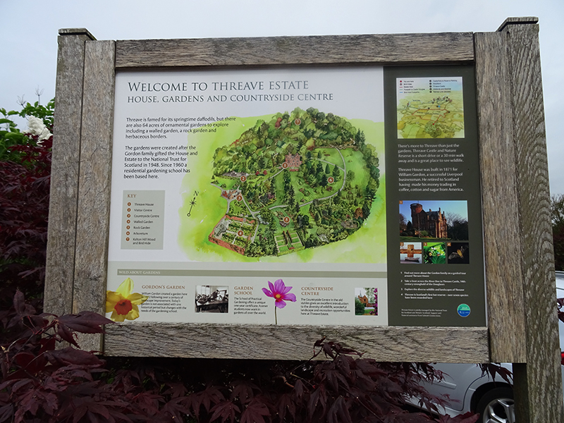 Threave Gardens Information Board