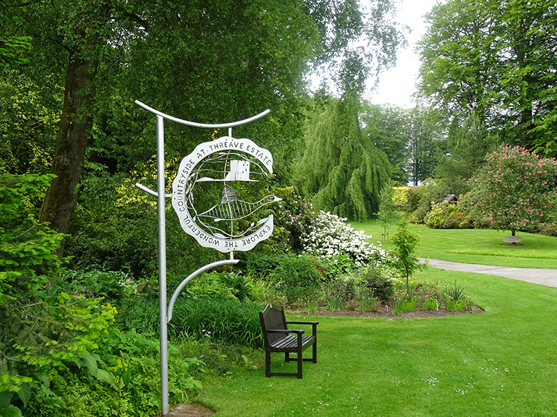 Threave Gardens  Sign Post