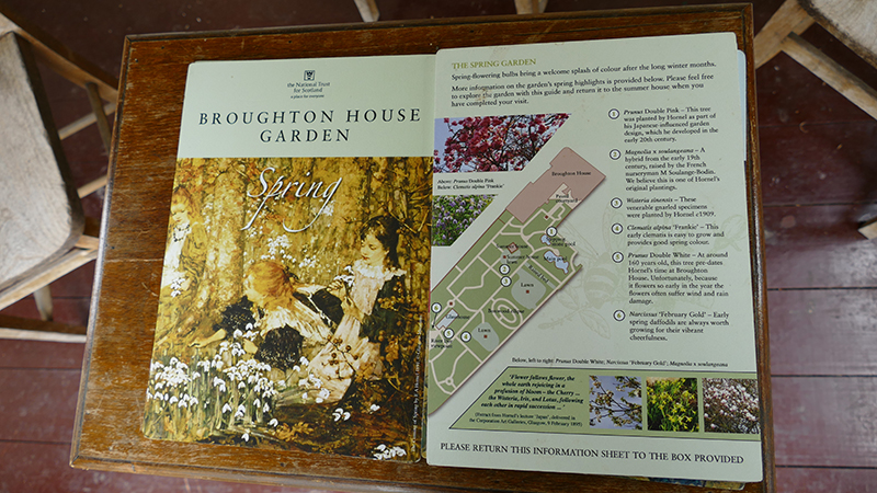 Broughton House spring information sheet © 2015 Scotiana