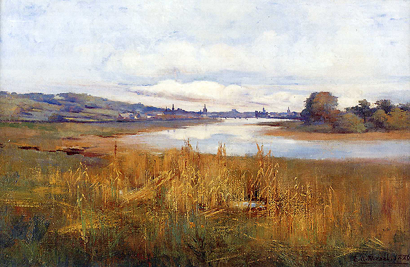 Distant View of Kirkcudbright from Janefield 1886
