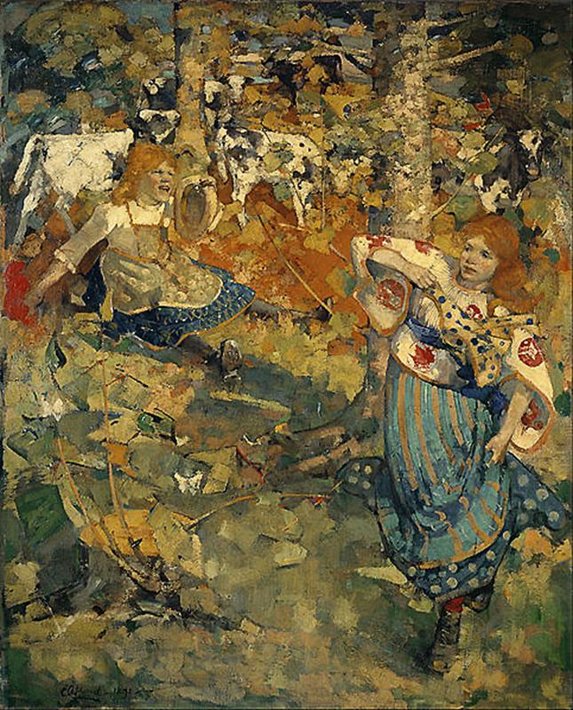 Summer Edgar Atkinson Hornel 1892 Liverpool Museum