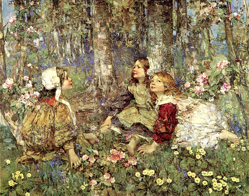 The Music of the Woods E.A. Hornel 1906