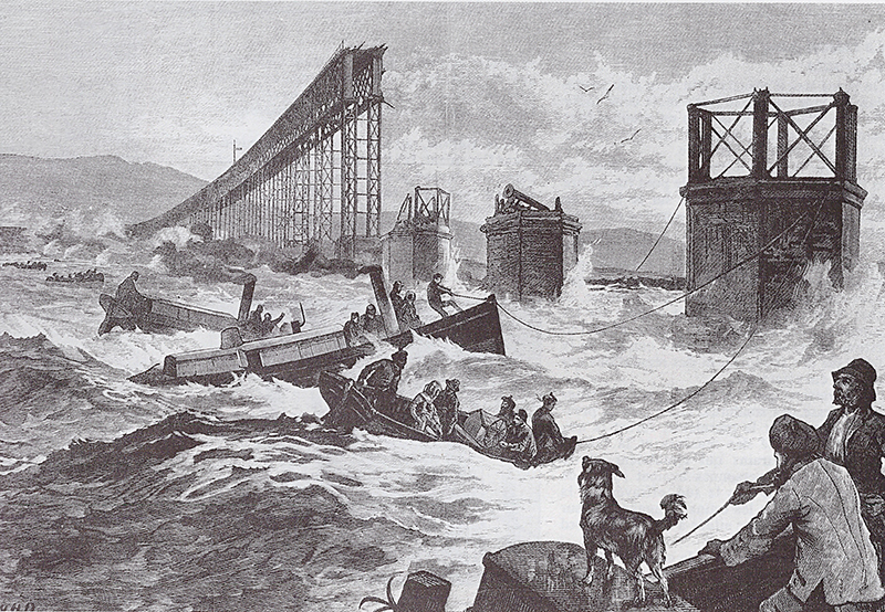 Tay Bridge disaster 1879 llustration Wikipedia