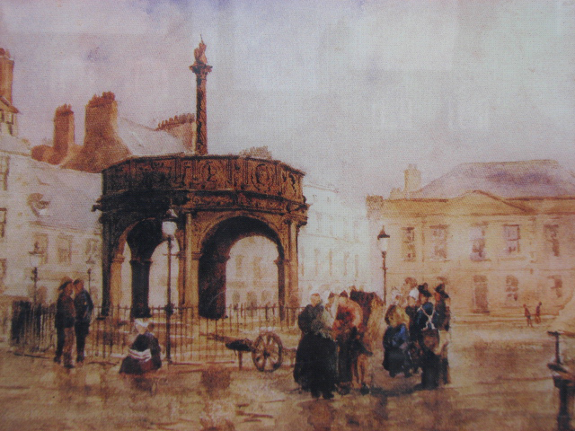 Aberdeen Unicorn Mercat Cross Painting -  Scotland