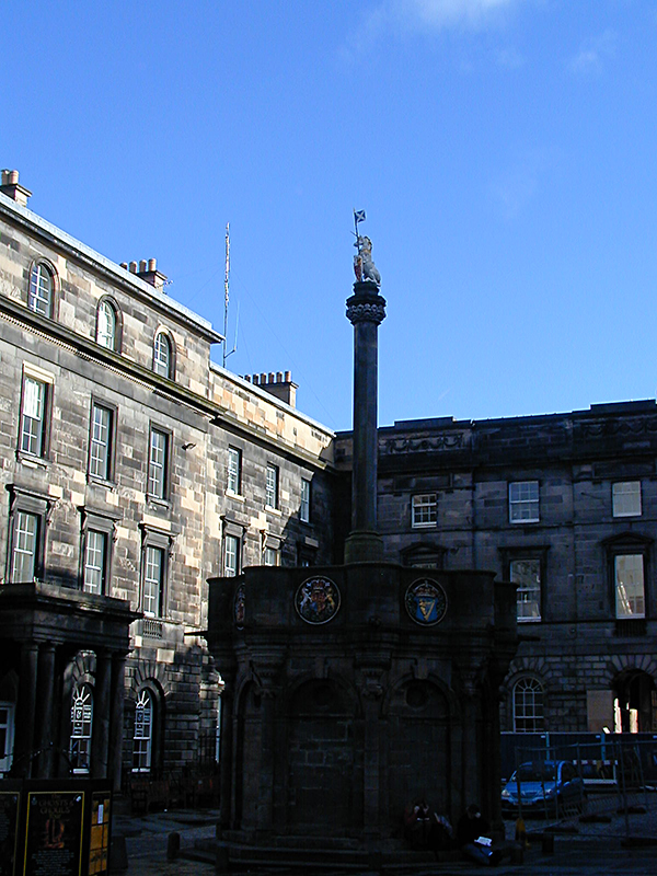 Edinburgh Unicorn Mercat Cross Scotland