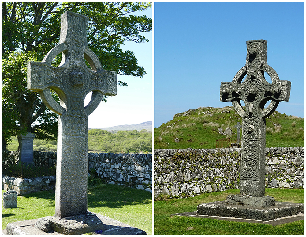 Islay Kildalton High Cross  1 & 2 faces © 2015 Scotiana