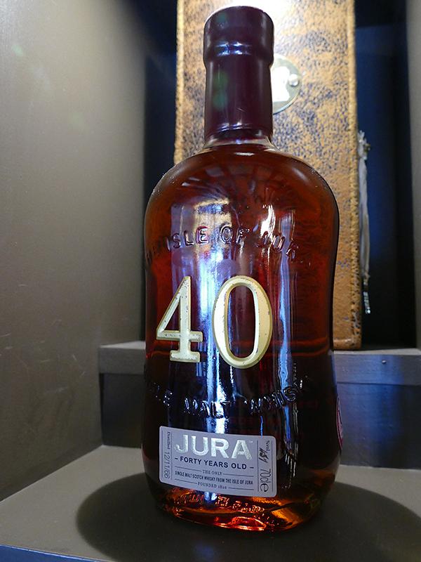 Isle of Jura Distillery 40-year old whisky bottle © 2015 Scotiana