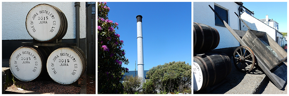 Isle of Jura Distillery photos montage © 2015 Scotiana