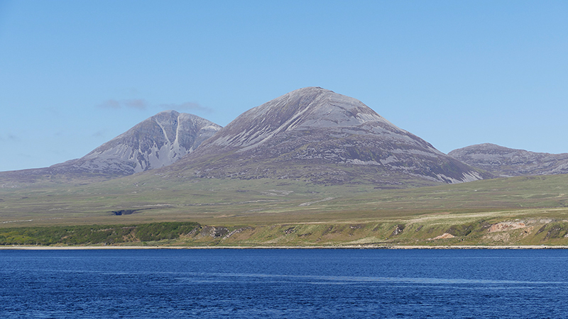 The Paps of Jura  seen from the Eilean Dhura ferry © 2015 Scotiana