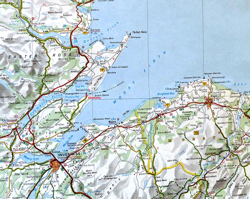 Moray Firth Michelin Scotland map