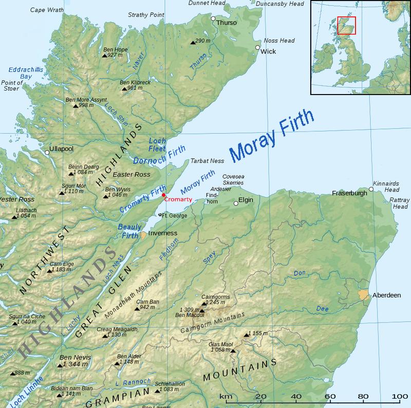 Moray Firth map Source Wikipedia
