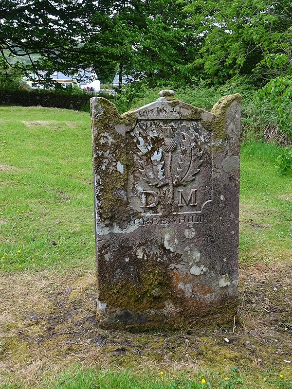 Saddell old grave with a thistle © 2015 Scotiana
