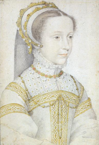 Mary stuart aged about thirteen by François Clouet