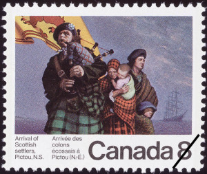 arrival-of-scottish-settlers-pictou-ns-canada-stamp