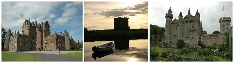 Glamis, Threave and  Abbotsford castles - Scotland © 2017 Scotiana